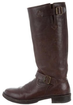 CNC Costume National Distressed Leather Boots