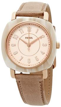 Fossil Idealist Rose Dial Nude Leather Ladies Watch