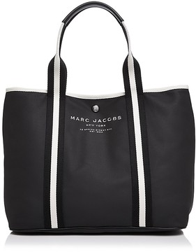 Marc Jacobs East/West Canvas Tote - BLACK/SILVER - STYLE