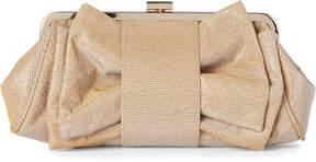 La Regale Gold Shimmer Convertible Clutch