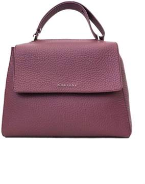 Orciani Terracotta Leather Sveva Large Bag.