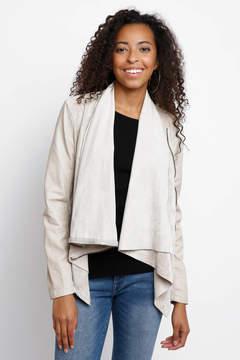 Blank Cream Vegan & Suede Drape Jacket