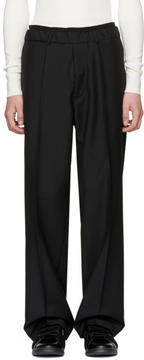 Ports 1961 Black Casual Drawstring Trousers