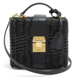 Mark Cross X Hvn Harley Small Wicker Basket Bag - Womens - Black