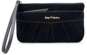 Juicy Couture Velvet Pleated Wristlet