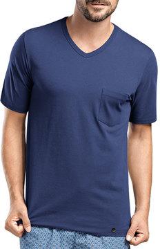 Hanro Harvey V-Neck T-Shirt, Dark Blue