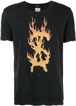 Ksubi x Travis Scott Flaming Dollar t-shirt