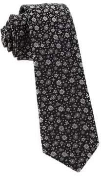 The Tie Bar Milligan Flower Embroidered Silk Tie