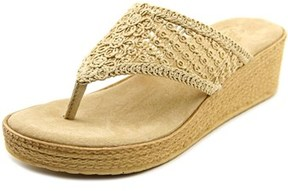 Sbicca Tomatillo Women Open Toe Canvas Nude Thong Sandal.