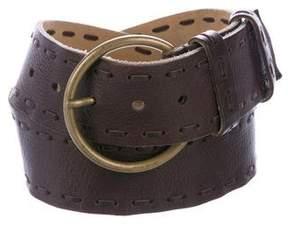 Miu Miu Whipstitch Leather Belt