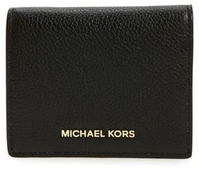MICHAEL Michael Kors Women's Mercer Leather Rfid Card Holder - Black - BLACK - STYLE