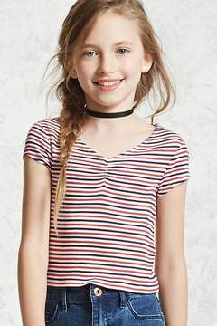 Forever 21 Girls Ribbed Striped Tee (Kids)