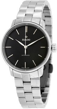 Rado Coupole Classic Automatic Black Dial Stainless Steel Ladies Watch