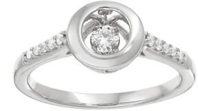 Brilliance+ Brilliance In Motion Brilliance in Motion 1/5 Carat T.W. Diamond Sterling Silver Circle Ring