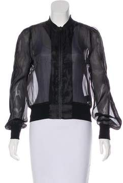 Carbon38 Carbon 38 Sheer Bomber Jacket w/ Tags