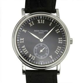 Patek Philippe Calatrava 5022P Platinum & Leather Manual 33mm Mens Watch
