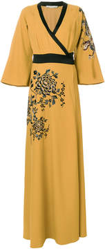 Amen embroidered wrap dress