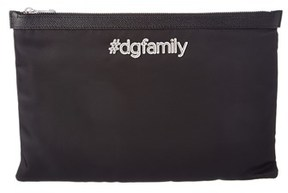 Dolce & Gabbana Family Patch Nylon Document Holder. - BLACK MULTI - STYLE