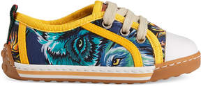 Gucci Toddler animal faces canvas low-top