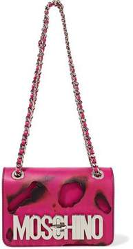 Moschino Cutout Leather Shoulder Bag