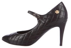 Chanel Quilted Mary Jane Pumps