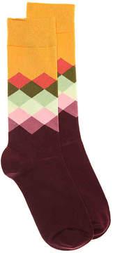 Happy Socks Men's Faded Diamonds Men's's Crew Socks