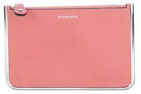 Carven Leather Frame Pouch