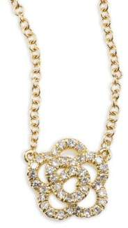 Ef Collection Rose Diamond & 14K Yellow Gold Pendant Necklace