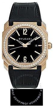 Bvlgari Octo 18K Rose Gold Diamond Automatic Men's Watch