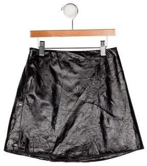 Helena Girls' Vegan Leather Skirt