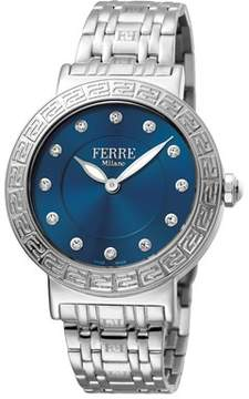 Ferré Milano Women's Swiss Made Swiss Quartz Silver Stainless Steel Bracelet Watch.