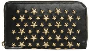 Jimmy Choo Stars Studs Leather Zip Around Wallet