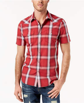 American Rag Men's Western Plaid Shirt, Created for Macy's