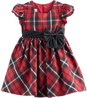 Bonnie Jean Toddler Girl Red Plaid Sparkle Dress