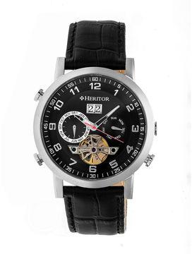 Heritor Edmond Mens Black Strap Watch-Herhr6202
