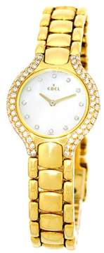 Ebel Beluga 18K Yellow Gold wDiamonds Quartz 24mm Womens Watch