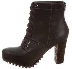 Vera Wang Leather Lace-Up Booties