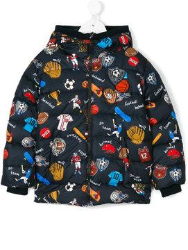 Dolce & Gabbana Kids sports print down jacket