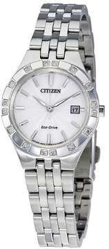 Citizen Diamond Silver-tone Stainless Steel Ladies Watch EW2330-51A