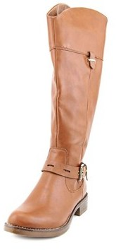 XOXO Saray Women Round Toe Synthetic Brown Knee High Boot.