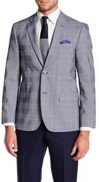 Ben Sherman Glen Two Button Notch Collar Plaid Sports Coat