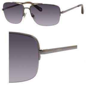 Fossil Metal Navigator Sunglasses 60 06LB Light Ruthenium (F8 gray gradient lens)