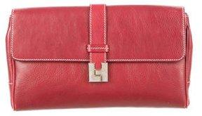 Lambertson Truex Leather Envelope Clutch