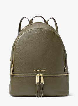 Michael Kors Rhea Large Leather Backpack - GREEN - STYLE