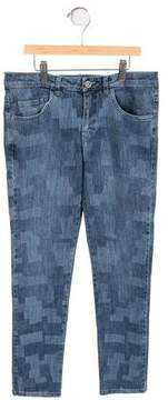 Versace Girls' Printed Straight-Leg Jeans w/ Tags