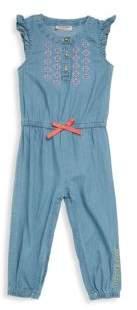 Juicy Couture Baby's Cap-Sleeve Cotton Jumpsuit