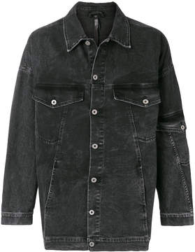 Barbara I Gongini long-line denim jacket
