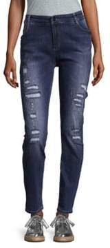 SET The Jack Distressed Girlfriend Jeans