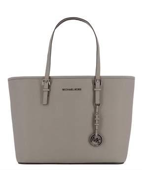 Michael Kors Grey Leather Shoulder Bag - GREY - STYLE