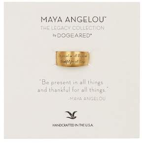 Dogeared 14K Gold Vermeil Maya Angelou Be Present in All Things Band Ring - Size 5